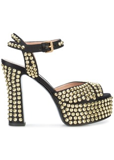 Moschino studded platform sandals - Black