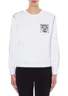 Moschino Teddy Bear Logo Embroidered Cotton Sweatshirt