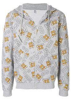 Moschino teddy bear logo hoodie - Grey