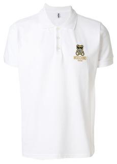 Moschino teddy bear logo polo shirt - White