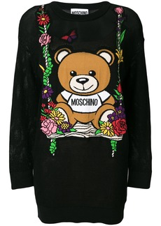 Moschino teddy bear sweater dress - Black