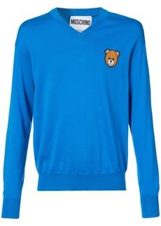 Moschino Teddy V-neck sweater - Blue