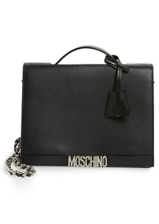 Moschino Top Handle Leather Crossbody Bag