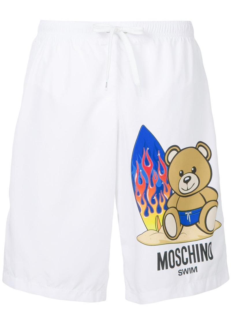 4dcd77513d Moschino Moschino Toy bear swim shorts - White | Swimwear