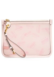 Moschino Transparent Logo Pouch