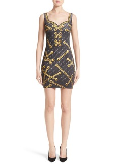 Moschino Trope l'Oeil Quilted Chain Dress
