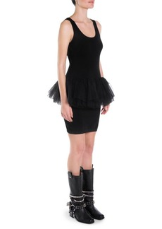 Moschino Tulle Waist Knit Tank Dress