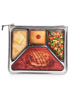 Moschino TV Dinner Photorealistic Zip Clutch