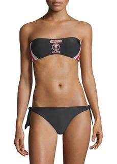 Moschino Two-Piece Bandeau Logo Bikini Set