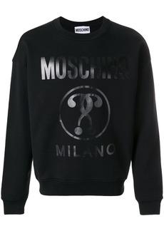 Moschino vinyl print sweatshirt - Black