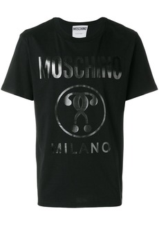 Moschino vinyl print T-shirt - Black