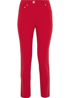 Moschino Woman Crepe Slim-leg Pants Red