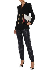 Moschino Woman Double-breasted Crepe Blazer Black