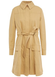Moschino Woman Embellished Cotton-blend Gabardine Trench Coat Beige