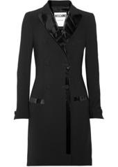 Moschino Woman Pvc-trimmed Crepe Mini Dress Black