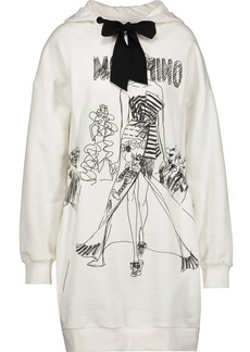 Moschino Woman Printed Cotton Hooded Mini Dress White