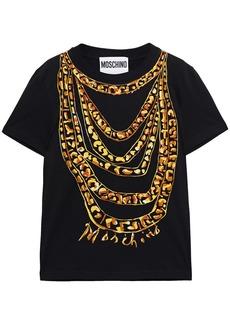 Moschino Woman Printed Cotton-jersey T-shirt Black