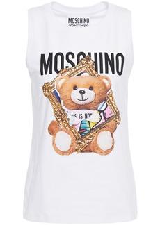 Moschino Woman Printed Cotton-jersey Tank White