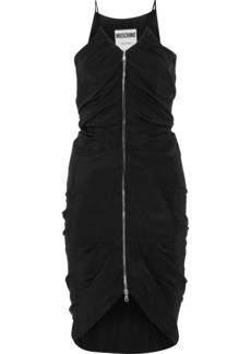 Moschino Woman Ruched Silk Crepe De Chine Dress Black