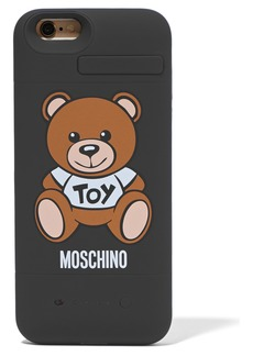 Moschino Woman Silicone Iphone 6 Charging Case Black