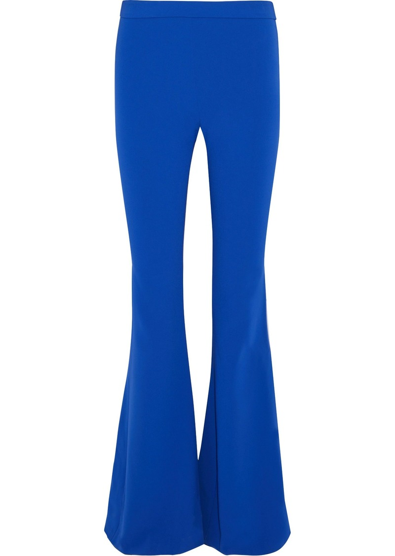 Moschino Woman Stretch-crepe Flared Pants Bright Blue