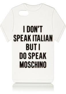 Moschino Woman T-shirt Silicone Iphone 5 Case White