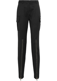 Moschino Woman Wool-blend Twill Skinny Pants Black
