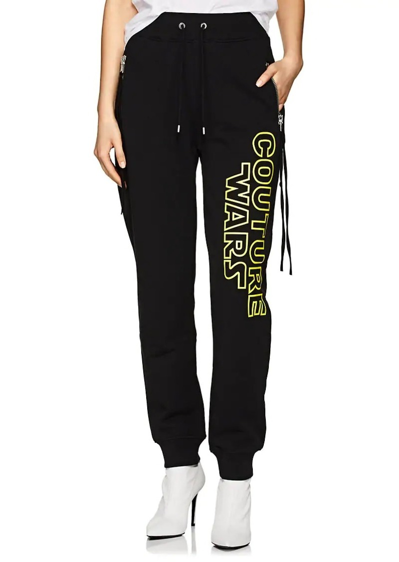 "Moschino Women's ""Couture Wars"" Cotton Jogger Pants"
