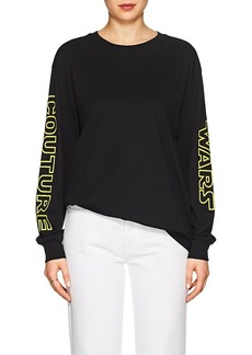 "Moschino Women's ""Couture Wars"" Cotton Long-Sleeve T-Shirt"