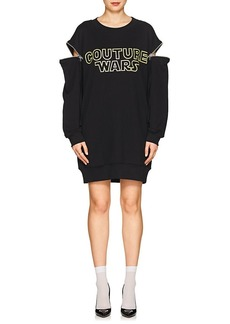 "Moschino Women's ""Couture Wars"" Cotton Sweatshirt Dress"