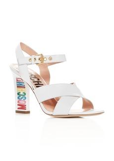 Moschino Women's Crisscross High-Heel Sandals