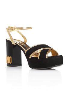 Moschino Women's Crisscross Strappy Platform Sandals