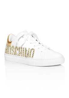Moschino Women's Embellished Logo Low-Top Sneakers