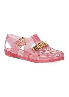 Moschino Women's Logo Hardware Jelly Sandals