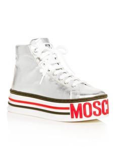 Moschino Women's Logo High-Top Platform Sneakers