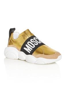 Moschino Women's Logo Strap Slip-On Sneakers