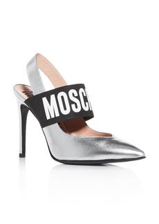 Moschino Women's Slingback Pointed-Toe Pumps