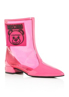Moschino Women's Teddy Bear Pointed-Toe Boots