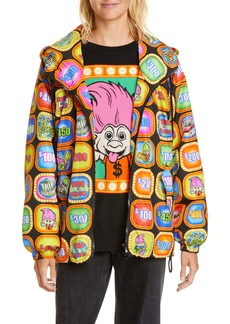 Moschino x Good Luck Trolls Print Nylon Windbreaker Jacket