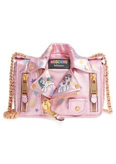 Moschino x My Little Pony Biker Jacket Metallic Leather Crossbody Bag