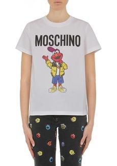 Moschino x Sesame Street® Elmo Logo Silk Graphic Tee