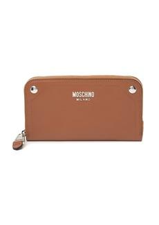 Moschino Zip-Around Leather Wallet