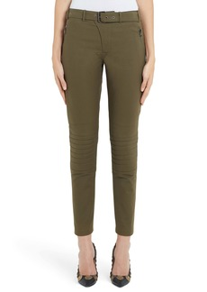 Moschino Zip Detail Skinny Moto Pants