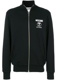 Moschino zip front sweatshirt - Black