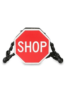 Moschino'Shop' Leather Shoulder Bag