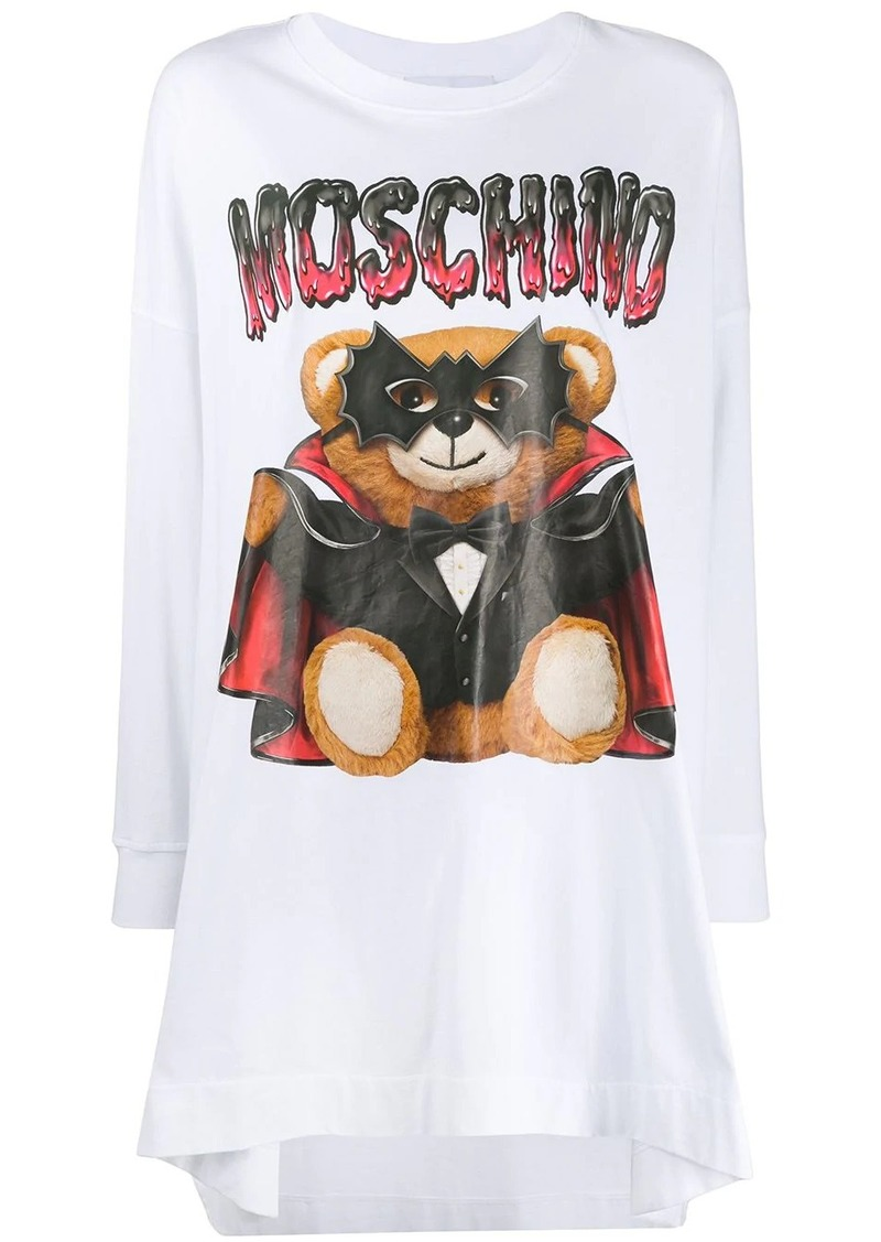 Moschino motif detail T-shirt dress