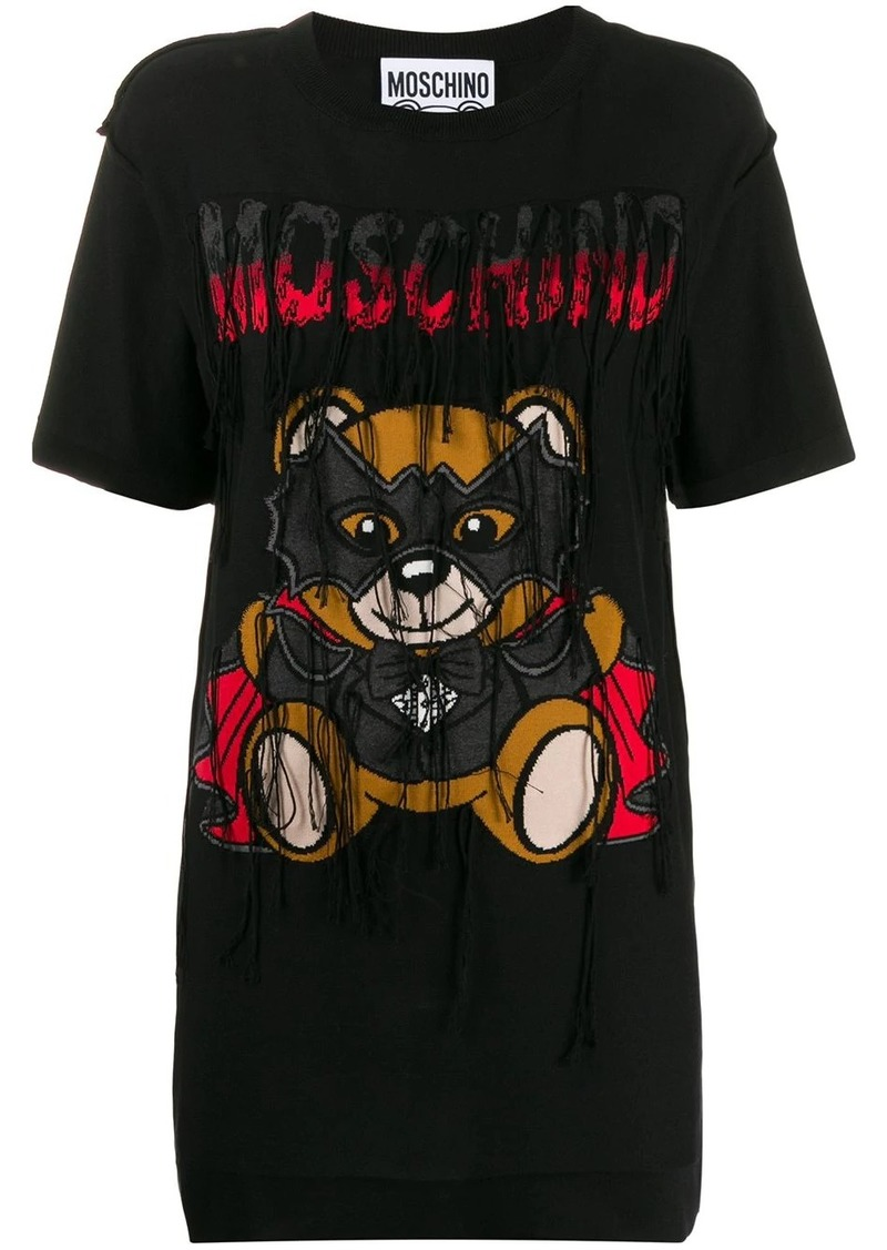Moschino motif detail tasseled T-shirt