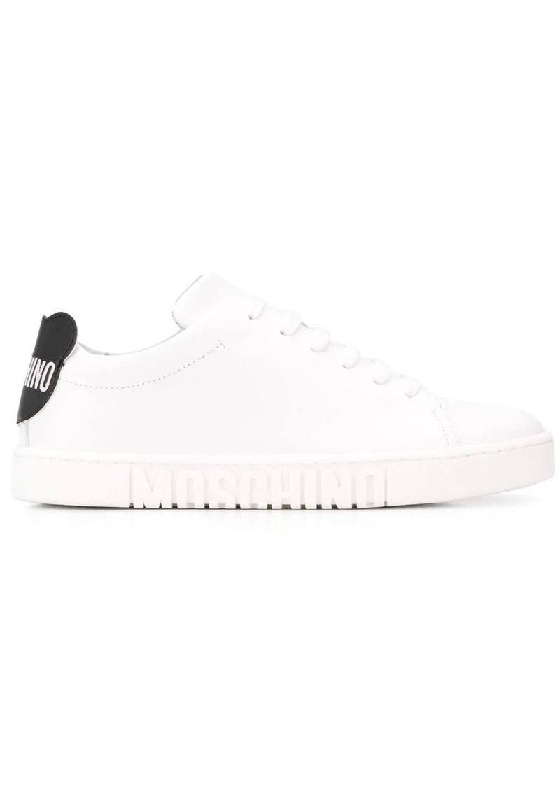 Moschino motif patch low-top trainers