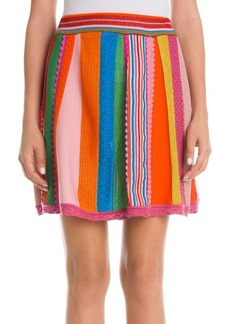 Moschino Multi-Color Wool Knit Skirt