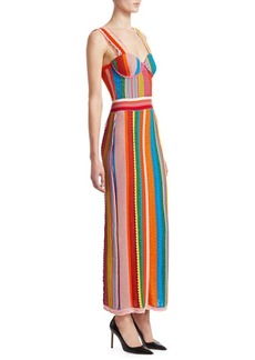Moschino Multi Stripe Knit Dress